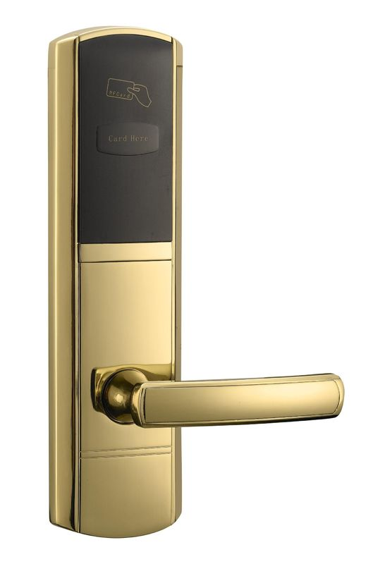 Glod RFID Hotel Locks with key Left Open Or Right Open Door
